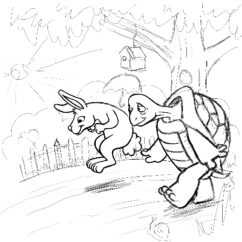 The Tortoise and The Hare – Hidden Picture