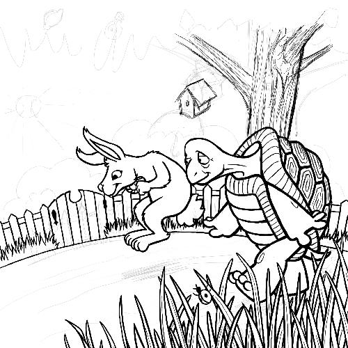 The Tortoise and The Hare – Work in Progress – Sketch – Karen B ...