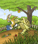 The fabled race begins between the tortoise and the hare. Can you find the 11 items hidden in the picture?