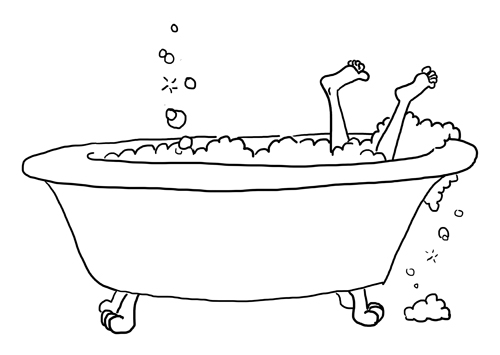 Line Art Bathroom : Bathtub sketch karen b jones