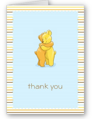 Bears Hugging Greeting Card