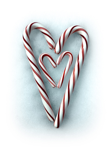 Double Heart Candy Canes 500