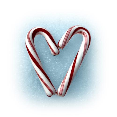 little candy cane heart 500