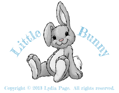 Little Bunny logo created by Karen B. Jones for Lydia Page.