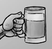 doofus 4 hand and mug