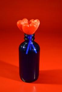 Lollipops in Blue Bottle