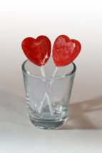 Lollipops in Shot Glass - White Background