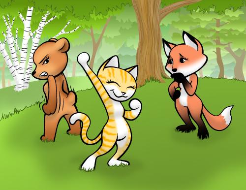 Cartoon-Girl-Animals-500