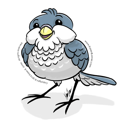 Happy Little Blue Bird