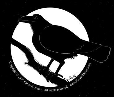 A raven perchec on a branch