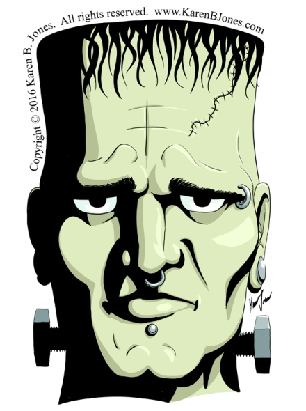Doctor Frankenstein's Monster's Head.