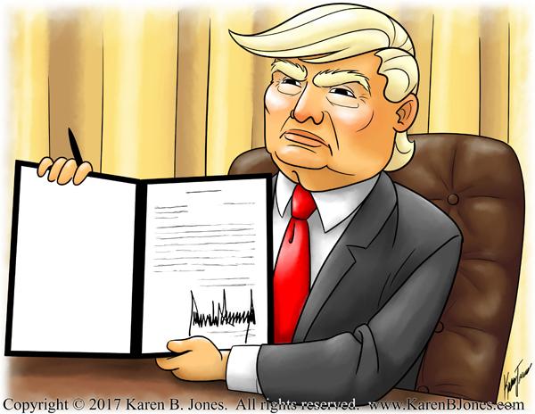 Trump Signing Things