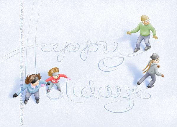 Ice Skating - Happy Holidays