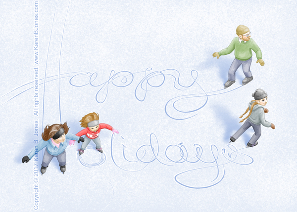 Ice Skating - Happy Holidays
