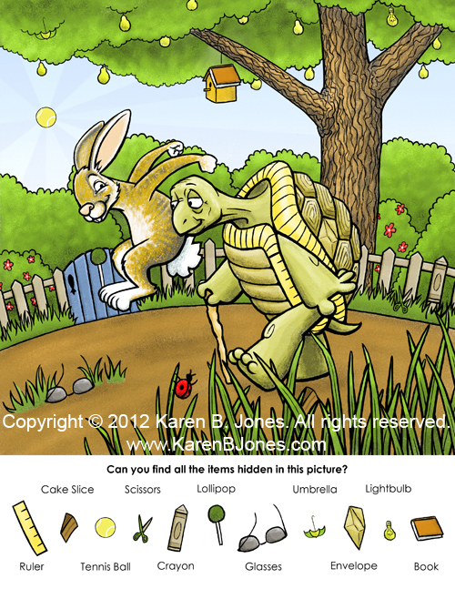 The Tortoise and The Hare - Hidden Picture Puzzle