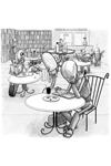 Robots in a Bookshop Cafe