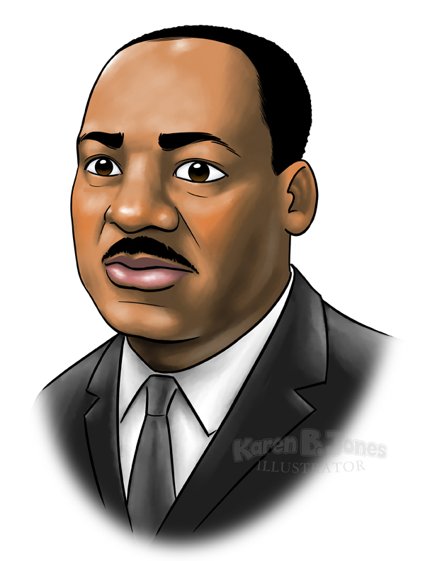 A portrait of Martin Luther King Jr.